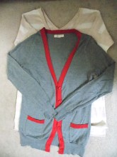Long sleeve shirt and cardigan for temples etc.