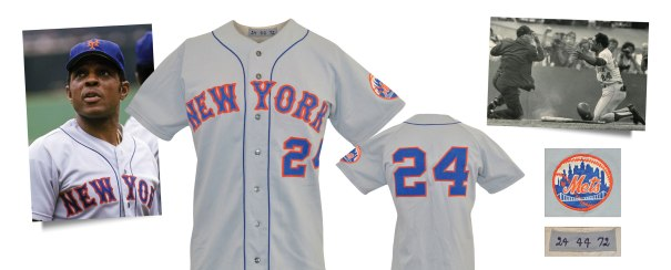 1972 Willie Mays New York Mets Game-Used Road Jersey