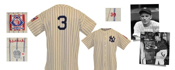 1939 George Selkirk New York Yankees Game-Used Pinstriped Home Flannel Jersey
