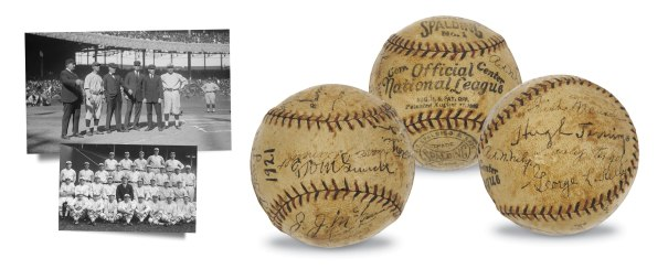 1921 New York Giants Team-Signed Official National League Baseball