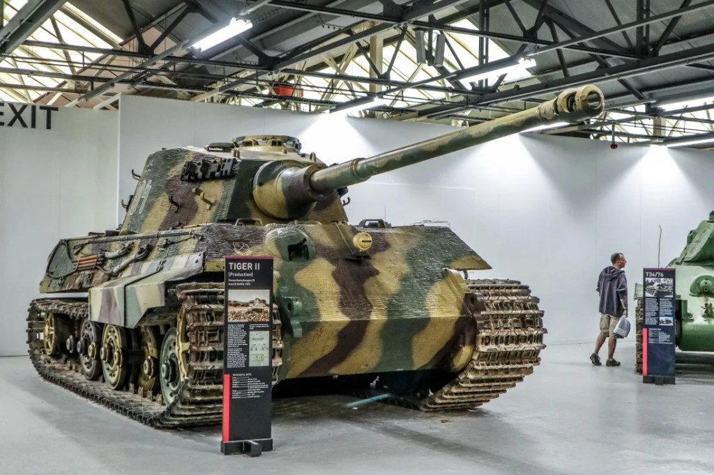 One of the German Tiger II tanks we saw when visiting the Tank Museum at Bovington in Dorset
