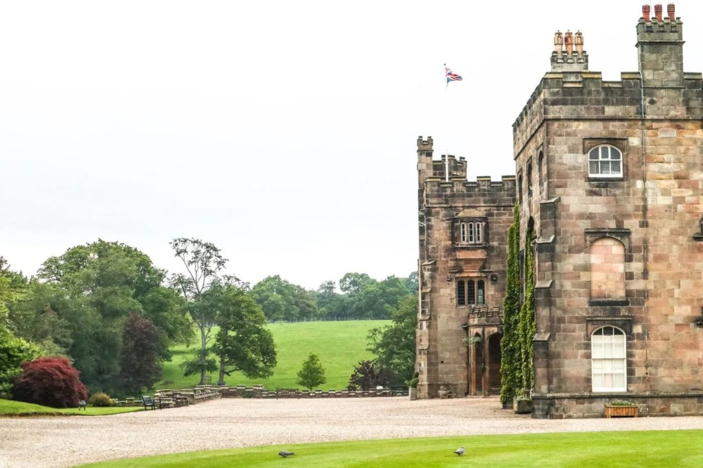 View of Ripley Castle and gardens