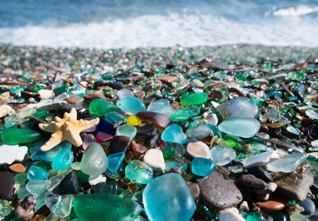 Enjoy hunting for stunning sea glass gems at Seaham beach