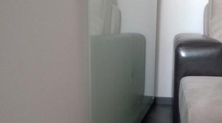 Экран радиатора из матового стекла