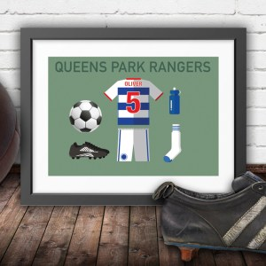 Personalised QPR vintage football kit
