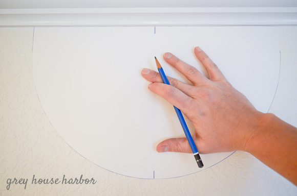 ombre scallop wall tutorial  |  greyhouseharbor.com