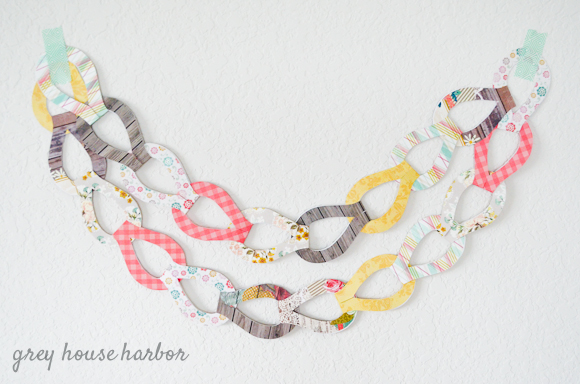 DIY Fancy Paper Chain - free template! |  greyhouseharbor.com