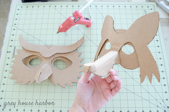 Make It Cardboard Animal Masks Grey House Harbor