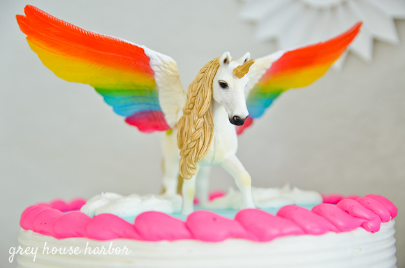 Rainbow Pegacorn (Pegasus + Unicorn) Birthday Party