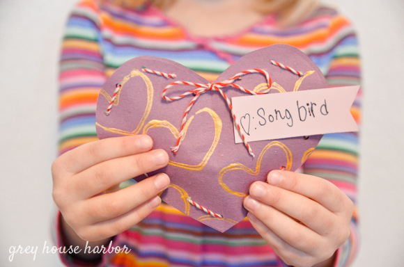 handmade valentines with lacing | greyhouseharbor.com