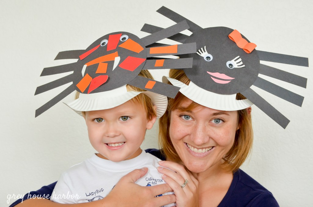spider hat craft for kids  greyhouseharbor.com
