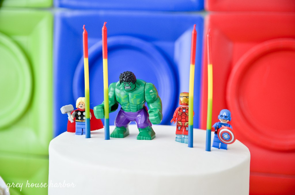 Lego Superhero DIY Birthday Party | greyhouseharbor.com