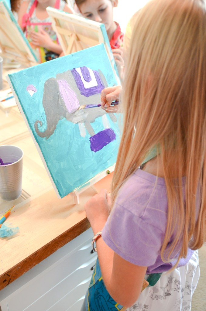 Birthday Painting Party | greyhouseharbor.com