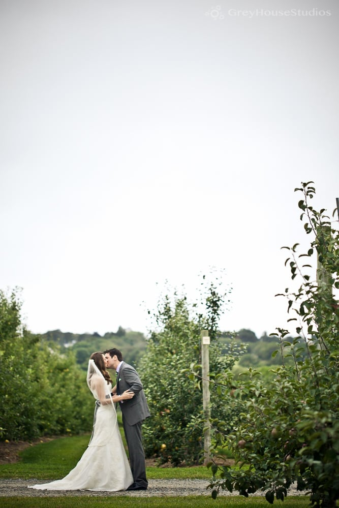 Jenn + Brett's Apple Orchard Wedding photos at Sweet Berry Farm in Middletown, RI
