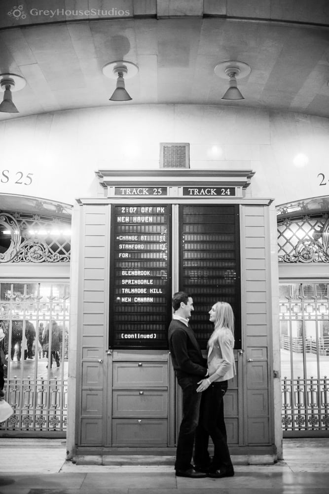 Russell + Ruth's Grand Central Terminal Engagement photography in Manhattan NYC by GreyHouseStudios