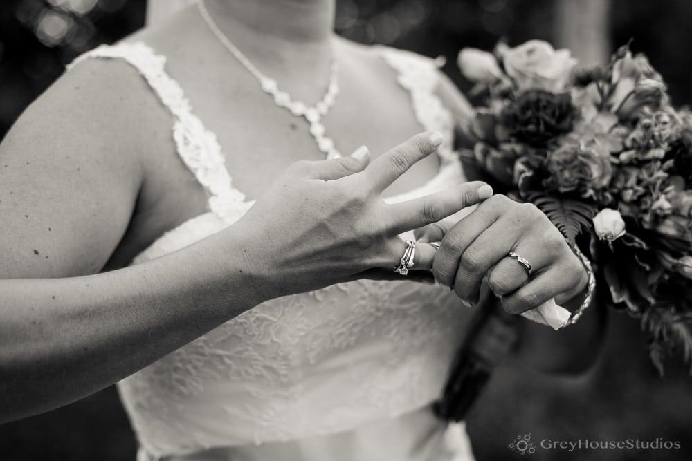 priam vineyards wedding ceremony photos bride with rings