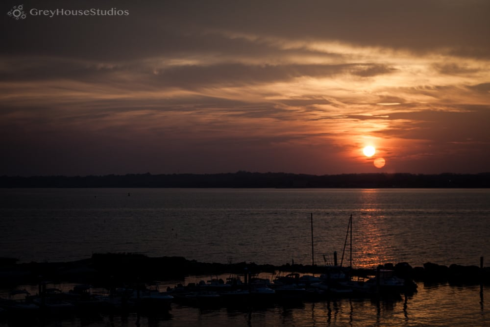 amarante's seacliff wedding ceremony sunset new haven ct