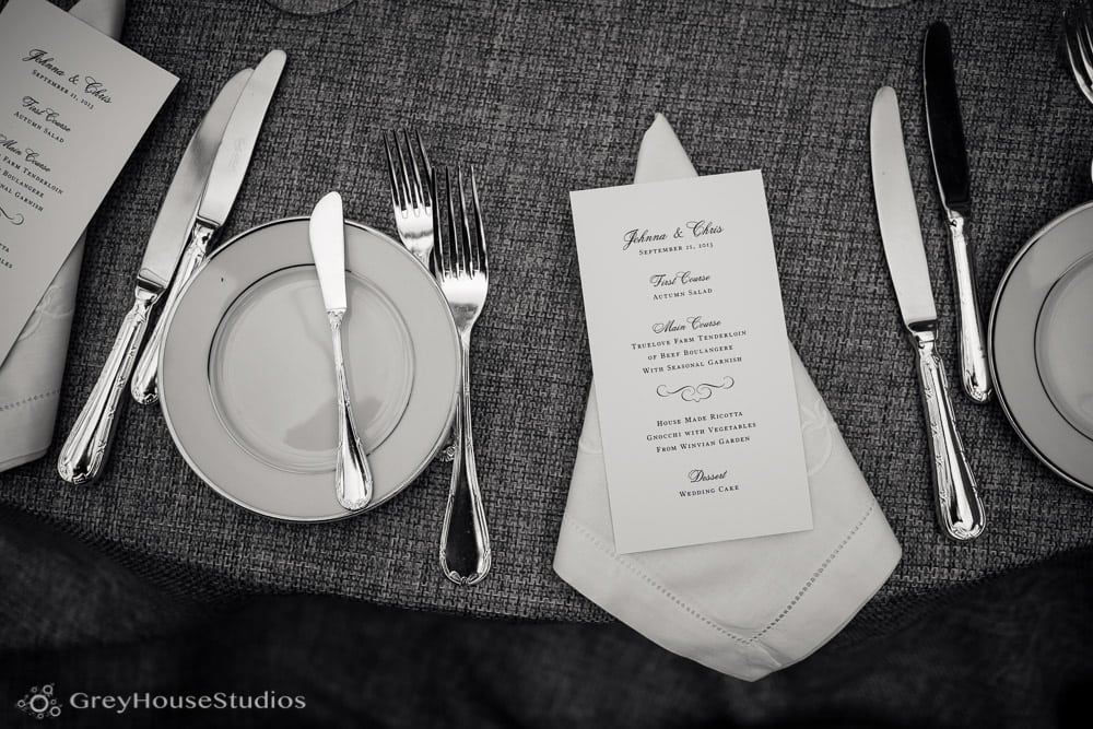 winvian wedding photos farm table wedding details menu