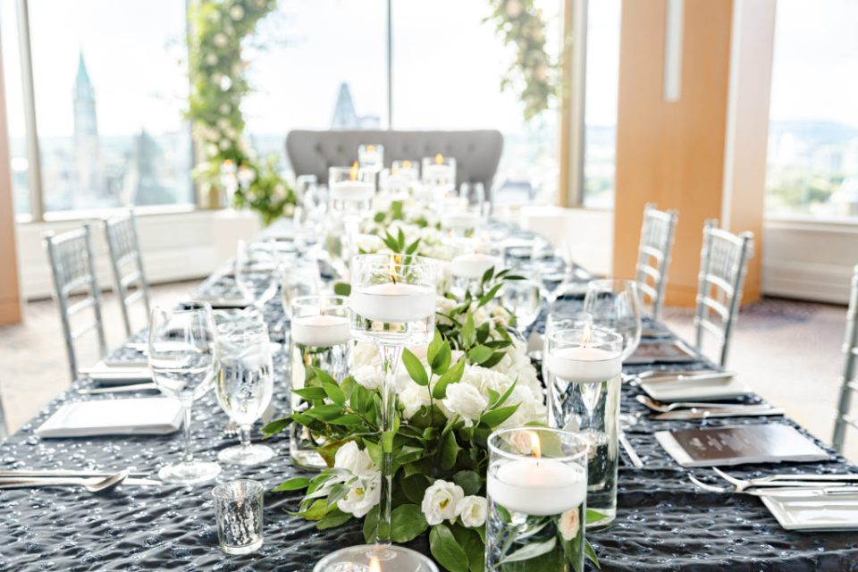 Floral Wedding Circle Hoop - Overlooking City - Downtown View - Best View of Downtown- Wedding Floral Decorations - Grey Loft Studio - Venue 22 - Ottawa Wedding Photographer - Wedding Videographer Ottawa - Photo Studio Ottawa wedding with a view - venue 22 - View of Parliament Hill Downtown - Wedecor - Erica Irwin