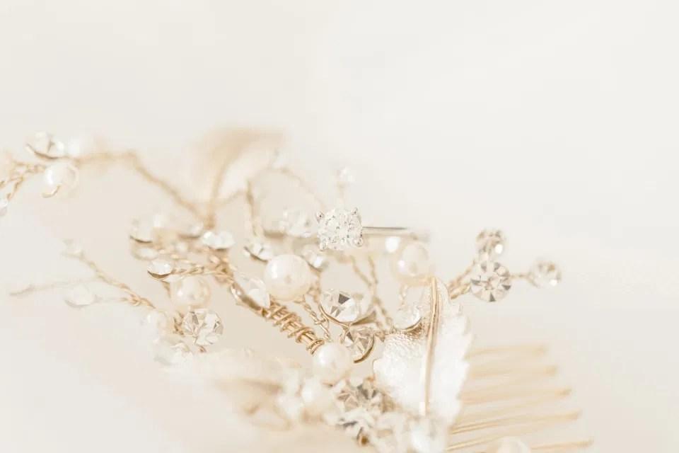 Wedding Ring - Styling Detail Shots on Wedding Day - Photographer Bethany Barrette - Styling Details on Wedding Day - Grey Loft Studio -Amy &. Nick | Le Belvedere at Wakefield in Quebec - Ottawa Wedding Venue - Grey Loft Studio