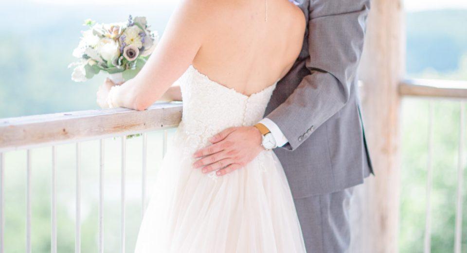 Holding his Wife on Wedding Day - Lavender Rain Inspired Wedding - Le Belvedere- Grey Loft Studio- Ottawa Wedding Photographer - Affordable - Cheap - Fine Art - Best - Kanata Photographer - Wedding Videographer Ottawa - Light and Airy - Beautiful - Timeless - Organic Photographer Carp - Stittsville