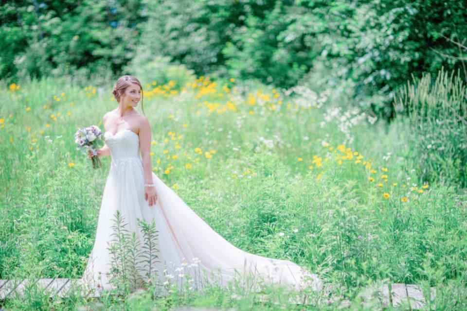 Bride pose - Posing in a Flower Field - Lavender Rain Inspired Wedding - Le Belvedere- Grey Loft Studio- Ottawa Wedding Photographer - Affordable - Cheap - Fine Art - Best - Kanata Photographer - Wedding Videographer Ottawa - Light and Airy - Beautiful - Timeless - Organic Photographer Carp - Stittsville