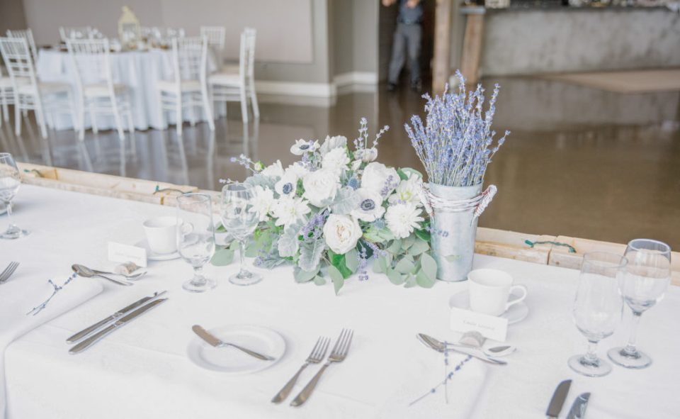 Head Table Decor - Florals - Lavender Rain Inspired Wedding - Le Belvedere- Grey Loft Studio- Ottawa Wedding Photographer - Affordable - Cheap - Fine Art - Best - Kanata Photographer - Wedding Videographer Ottawa - Light and Airy - Beautiful - Timeless - Organic Photographer Carp - Stittsville
