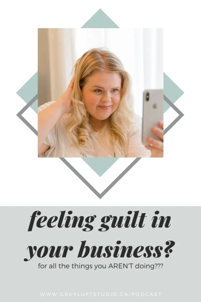 Feeling Guilt in your Business about what you AREN'T doing? Bethany Barrette tackles how to stop this guilt train and guides you on 3 easy ways to Kick Your own Butt into gear and make everyone else jealous of how much you are doing!