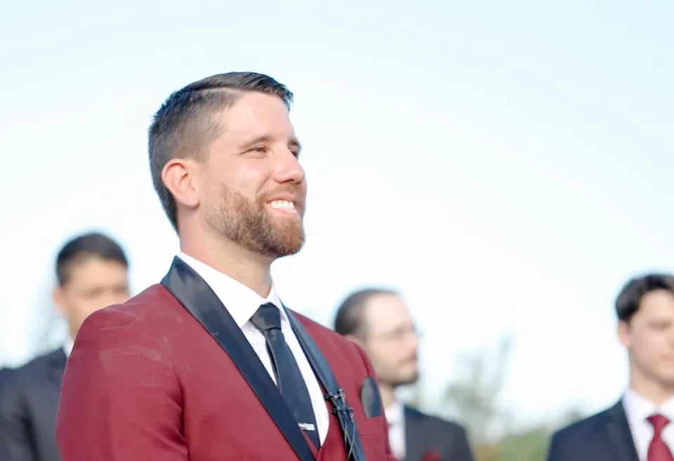 Grooms Reaction to seeing his Bride Walk down the Aisle (even after a first look) -  Evermore Wedding's and Events - Almonte - Grey Loft Studio