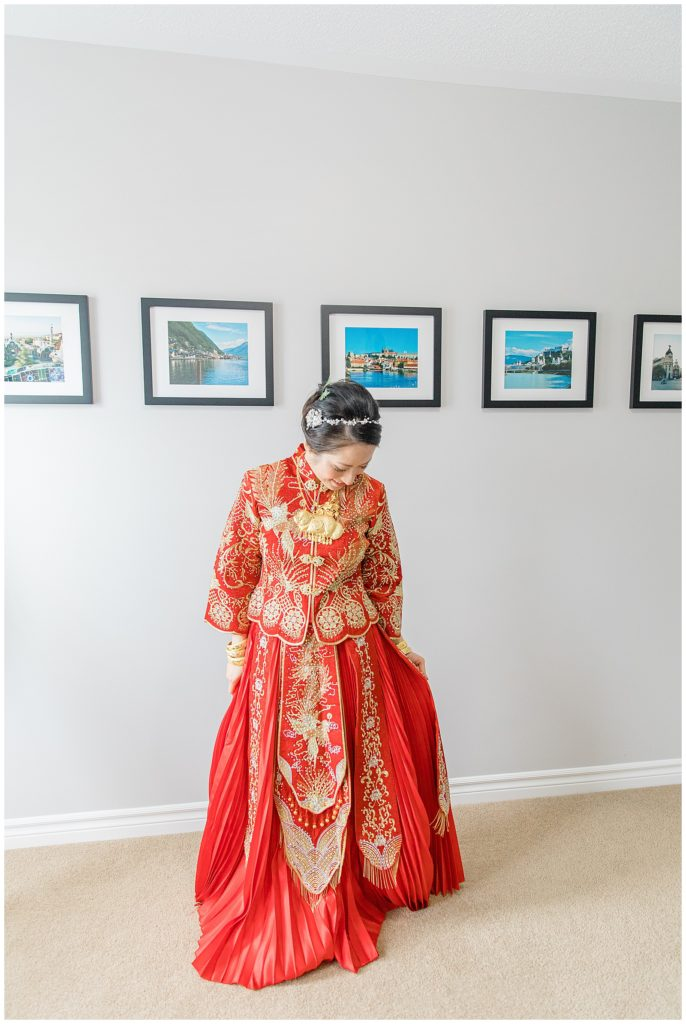 Traditional Tea Ceremony Gown for Bride - from China - Lisa & Pat - Grey Loft Studio - Wedding Photo & Video Team - Light and Airy - Ottawa Wedding Photographer & Videographer