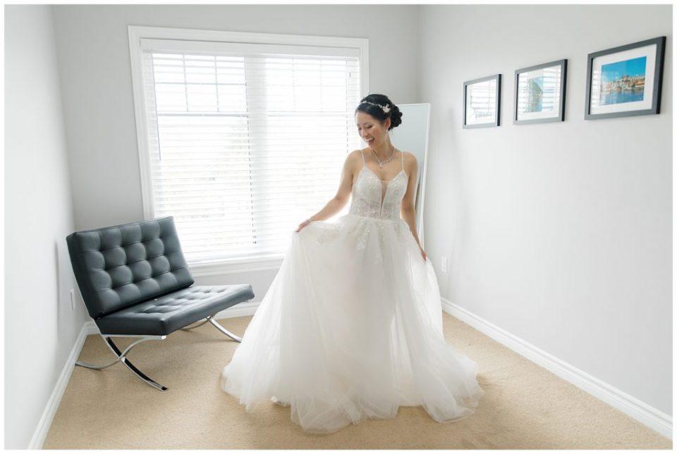 Beautiful Asian Bride on her Wedding Day in Wedding Gown - Lisa & Pat - Grey Loft Studio - Wedding Photo & Video Team - Light and Airy - Ottawa Wedding Photographer & Videographer