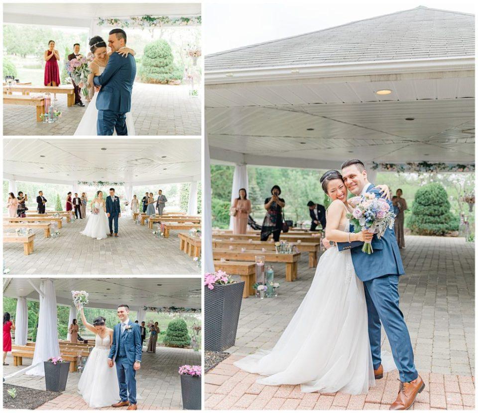 Walking down the aisle - Italian & Chinese Family - Wedding - Lisa & Pat - Grey Loft Studio - Wedding Photo & Video Team - Light and Airy - Ottawa Wedding Photographer & Videographer Orchard View Weddings