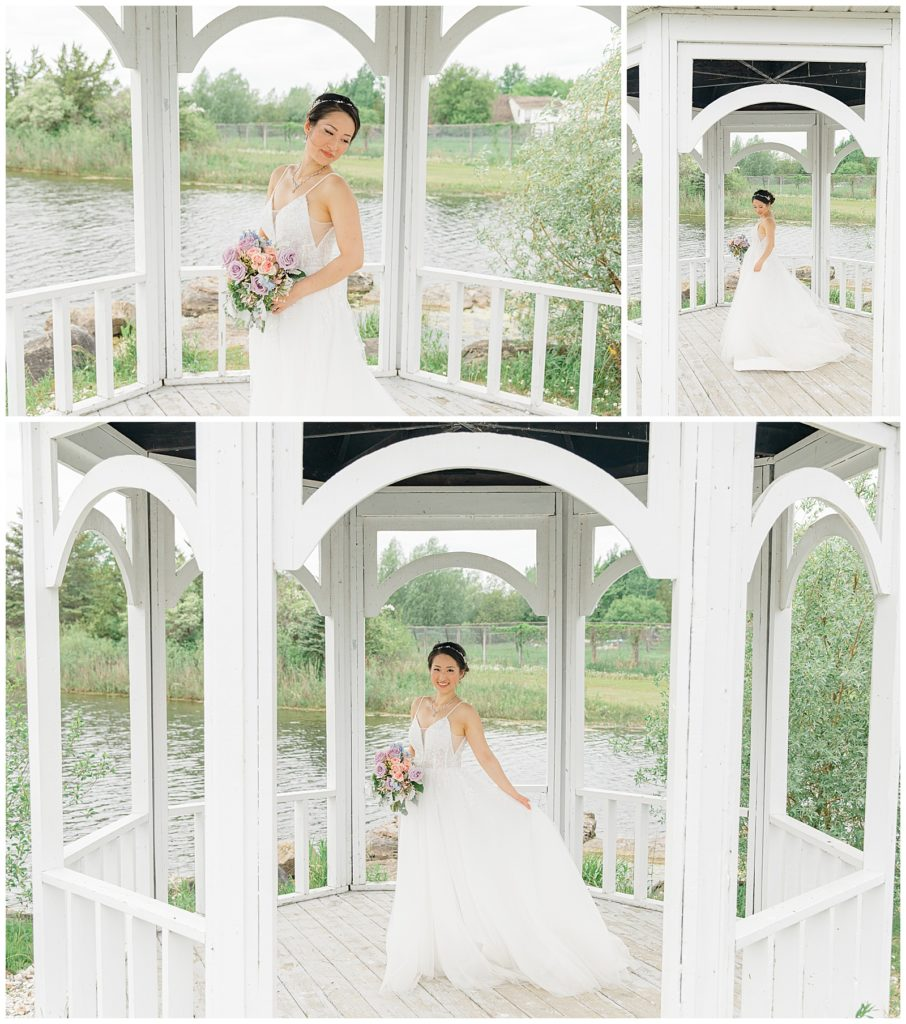 Asian Bride on Wedding Day Orchard View - Weddings Ottawa