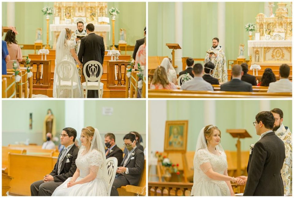 Bride & Groom at the Altar - St Clements Parish Ottawa - Wedding Day - Grey Loft Studio - Wedding Photographer