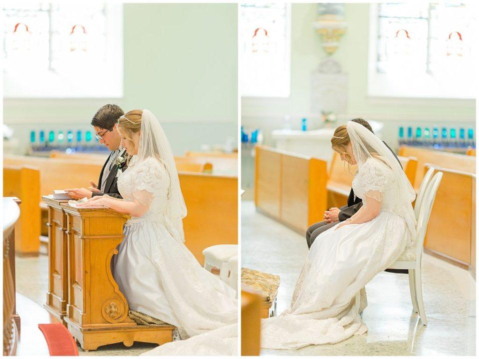 Praying during Wedding - St Clements Parish Ottawa - Wedding Day - Grey Loft Studio - Wedding Photographer