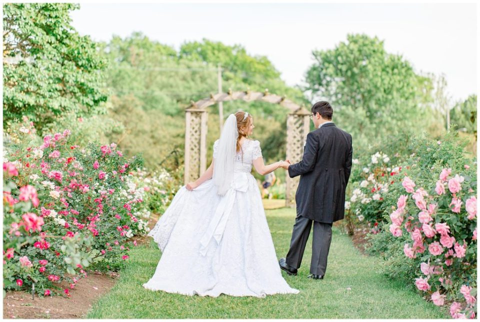 Rose Garden at the Ornament Garden Ottawa - Bride and Groom Portraits -  Ottawa - Wedding Day - Grey Loft Studio - Wedding Photographer