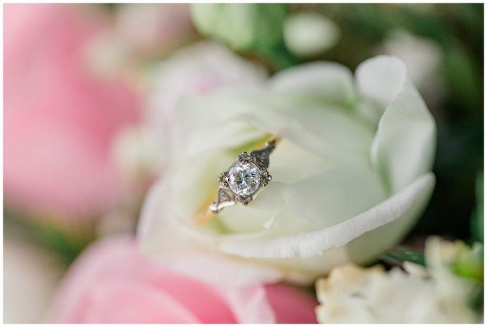 Wedding RIng in White Rose