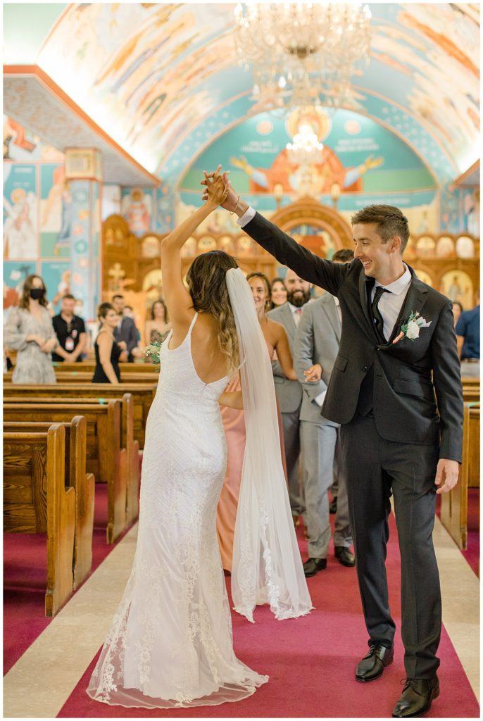 Bride & Groom at Church- Grey Loft Studio - Ottawa Wedding Photographer & Videographer -Light and Airy - Kanata, Westboro, Orleans - Luxury, Genuine, Affordable Photography.