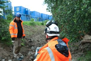 Ian on-site working to Earthing Standard bs7430