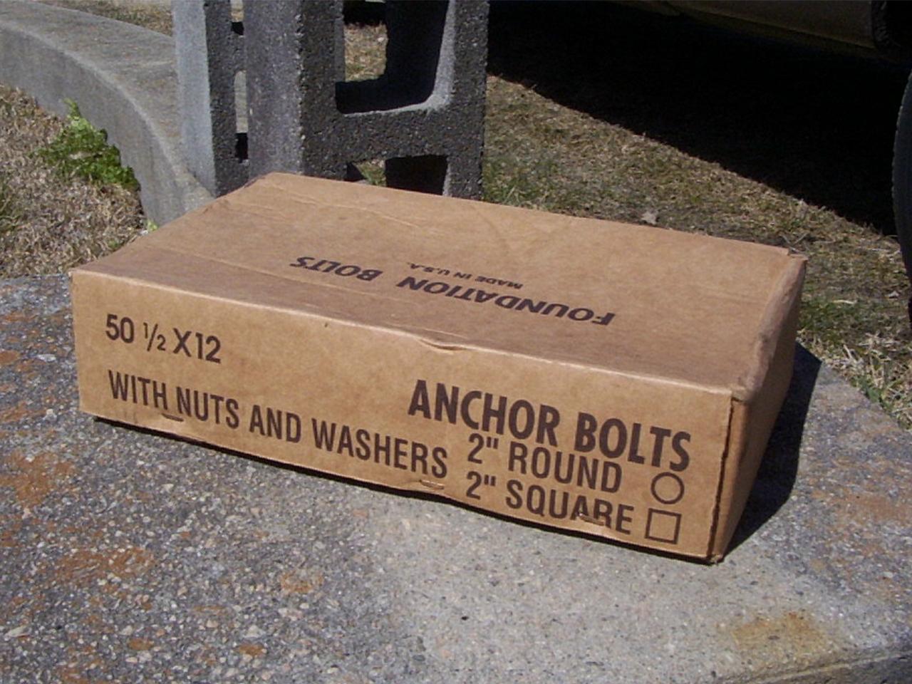 "Anchor Bolts 12"" x 12"""