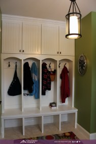traditional mudroom cubbies lockers beadboard