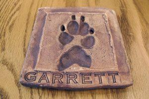 garrett's paw print