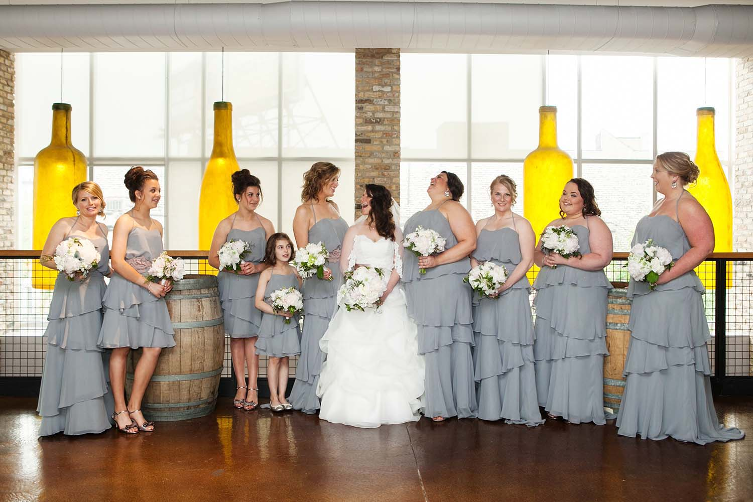 Bride and Bridesmaids Portrait Chicago City Winery