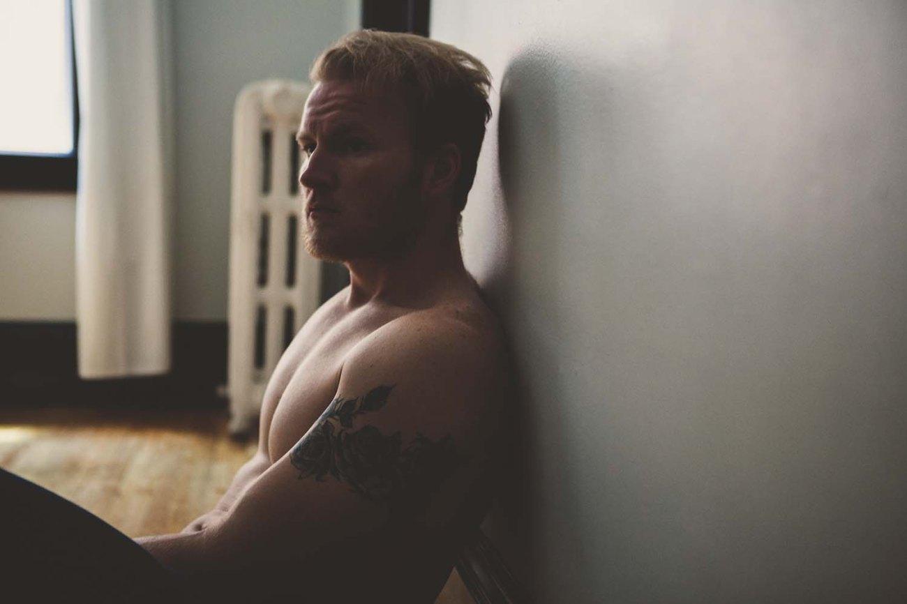 Austin's Studio Portrait, Man Intimate Portrait Photography Minneapolis, Boudoir Photography
