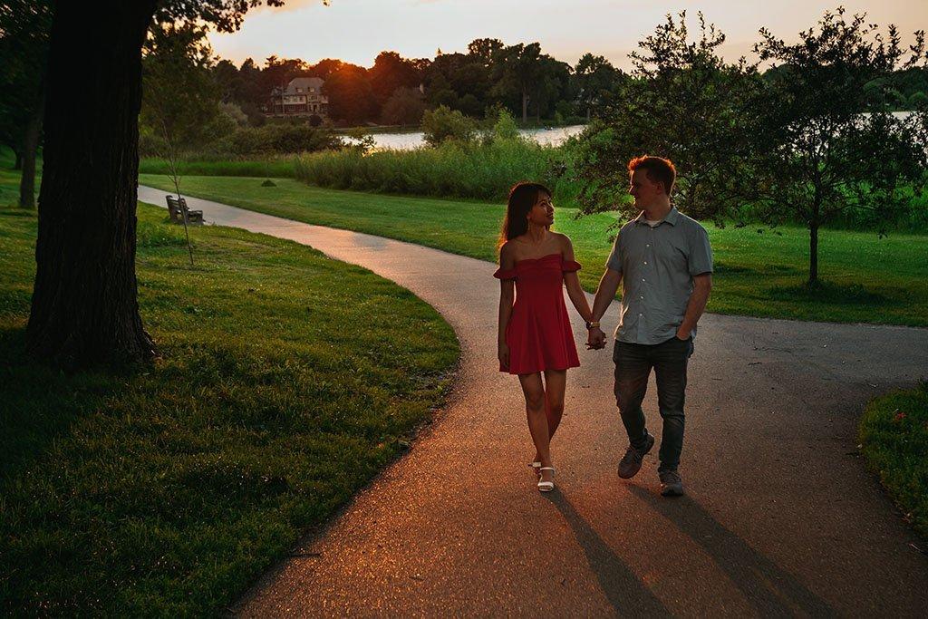 Sunset Lake of the Isles Minneapolis Engagement Photography, Minnesota Wedding Photographers, Saint Paul Photography, Nature, park, outdoors, portrait shoot, romantic, lovely, sweet, documentary, art, photographers