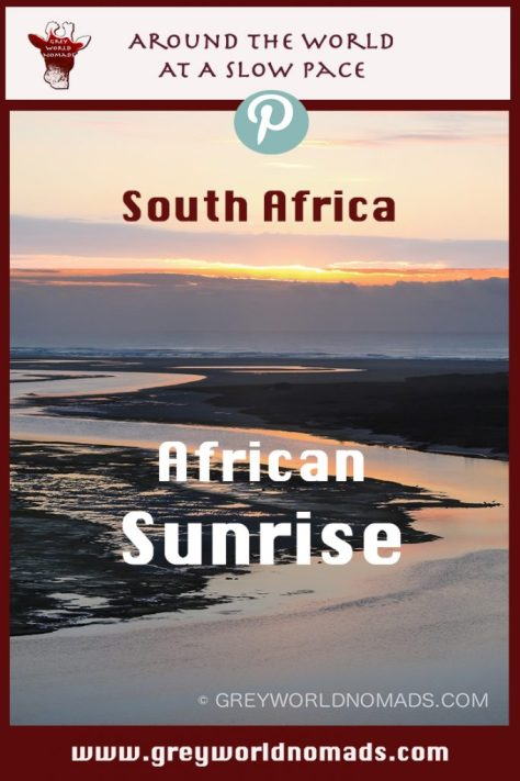 Africa enchants with the most magical sunsets and sunrises, even at the most southern tip of Africa in De Mond Nature Reserve, South Africa.
