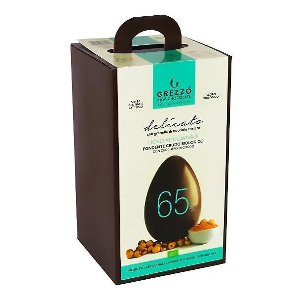 65 granella di nocciole uovo di cioccolato crudo vegano senza lattosio senza glutine