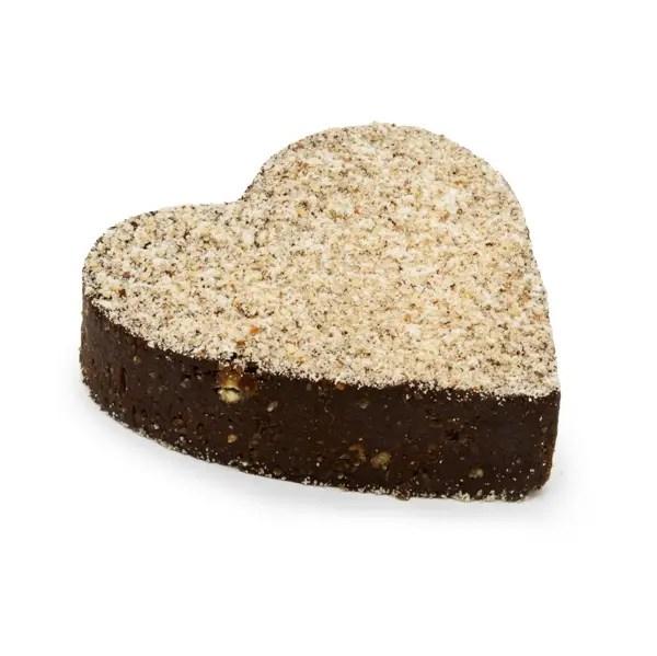Cuore Brownie senza zucchero cacao crudo nocciole
