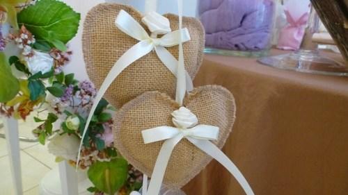 μπομπονιέρα καρδιές-γάμος