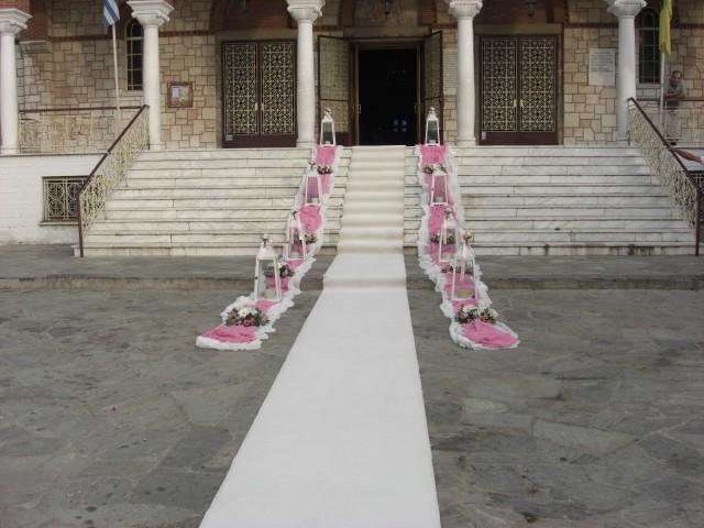 στολισμός γάμου στην ευαγγελίστρια στη νεα ερυθραία